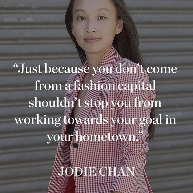 Today s #MondayMotivation comes from Jodie Chan, director of marketing and communications at Altuzarra. Chan moved across the globe and attended a number of universities in pursuit of her dream job.  Growing up in Sydney, Chan says she was far removed from the power centres of fashion, but this only made her more hungry to seek it out. After completing a finance degree in Australia, she moved to London and then New York, where she studied fashion marketing at Parsons School of Design. After graduating, she worked at social media agency WFG Media (which later became Syndicate Media Group) and counted Oscar de la Renta and Reed Krakoff as clients. Five years later, she met French-American designer Joseph Altuzarra and they  immediately clicked.  Feeling inspired by this story? Find your dream job in fashion, too, and discover the latest job opportunities at the world's leading brands on businessoffashion.com/careers #jodiechan #altuzarra #qotd #quoteoftheday  : Les Mijotes
