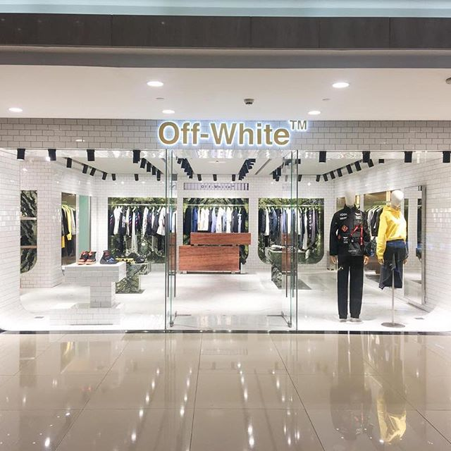 Off-White  flagship retail design in Xian, China.