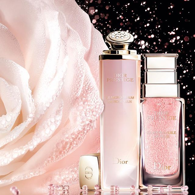 Experience your DIOR PRESTIGE daily dose of exceptional rose micro-nutrition for the #skin with Le Micro-Sérum de Rose Yeux and La Micro-Huile de Rose. @diorskincare #diorskincare