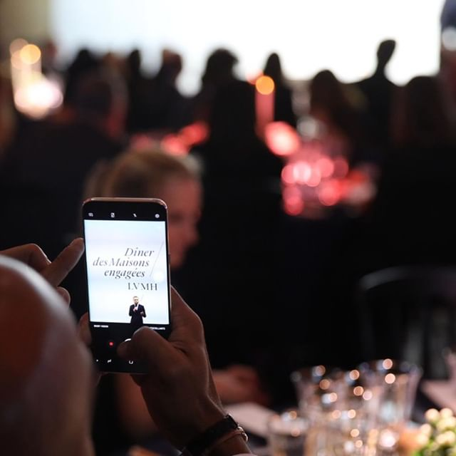 DÎNER DES MAISONS ENGAGEES 2018 On December 5, 2018, LVMH held its sixth annual Dîner des Maisons engagées at the Palais Brongniart in Paris. The event raises funds for the fight against sickle cell anemia, world s most widespread genetic disorder, affecting over five million people worldwide. LVMH and 30 of its Maisons help fund research to fight the disease and care for patients, supporting teams at Robert-Debré Hospital in Paris. _  : Sylvain Bachelot _ #RSELVMH #LVMH