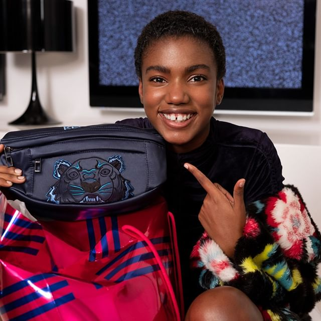 Fanny-pack, bum-bag  whatever you call it, KENZO has taken this modern carry-all up a step with satiny material and iconic tiger logo.   by @tilljanz  #KENZOHolidays #KENZOGifts