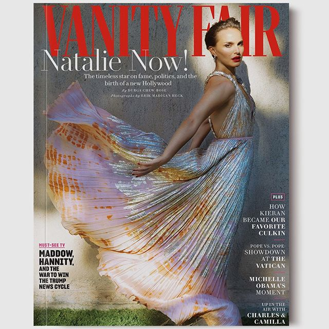 As a key figure in the rewriting of what it means to be a woman in Hollywood today, @NataliePortman is a proud proponent of unabashed femininity on her @VanityFair cover wearing this sumptuous gown from the Spring-Summer 2019 collection by #MariaGraziaChiuri. #DiorSS19 Photographed by @ErikMadiganHeck Styling by @SamiraNasr