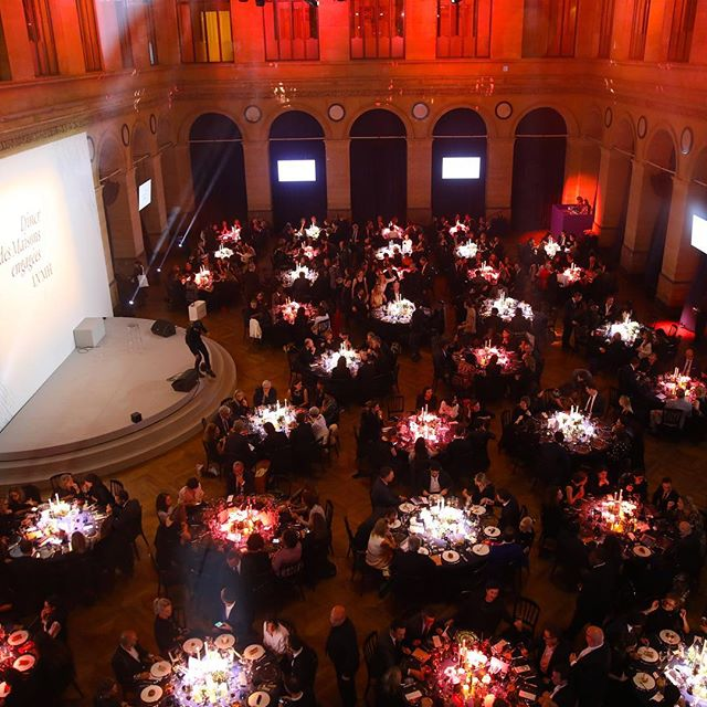 DÎNER DES MAISONS ENGAGEES 2018 On December 5, 2018, LVMH held its sixth annual Dîner des Maisons engagées at the Palais Brongniart in Paris. The event raised funds for the fight against sickle cell anemia, world s most widespread genetic disorder, affecting over five million people worldwide. At this occasion, French celibrities came to show their support towards the Group s commitment : @jainmusic and the Professor Baruchel, @soniarolland, @floracoquerel, @estelle.mossely, Bertrand Lama, @sandquetier, @gwendol among others.  _  : Sylvain Bachelot / Cyril Moreau (Best Image) _ #RSELVMH #LVMH