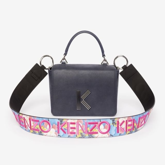 The KENZO K-bag just got a bit more lush with a revamped Indonesian Flower print shoulder strap.  Stop! Stop! This is amazing!    by @tilljanz  #KENZOHolidays #KENZOGifts