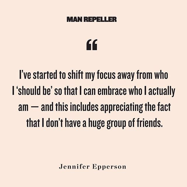 We are constantly surrounded by cultural examples of  girl squads,  the subtle but keenly felt pressure that to have a large group of friends is to be validated in your worth. This story by MR contributor Jennifer Epperson resonated with many of us on staff on a very personal level   head to the link in bio (or stick around and tell us what you think below)