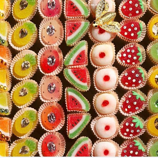 Tutti i frutti !  candies and crystals  From  Book Of Dreams  @swarovskiforprofessionals  Creative by me  #swarovskibookofdreams  Picture @orianiorigone styling Monica  Baio  #swarovskiforprofessionals