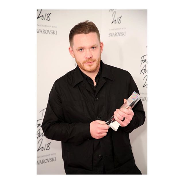 At yesterday s @BritishFashionCouncil #FashionAwards, designer @Craig_Green was awarded British Designer of the Year - Menswear for the third time in a row. #CraigGreen #BritishFashionCouncil #BFC #KOFashion #KarlaOtto