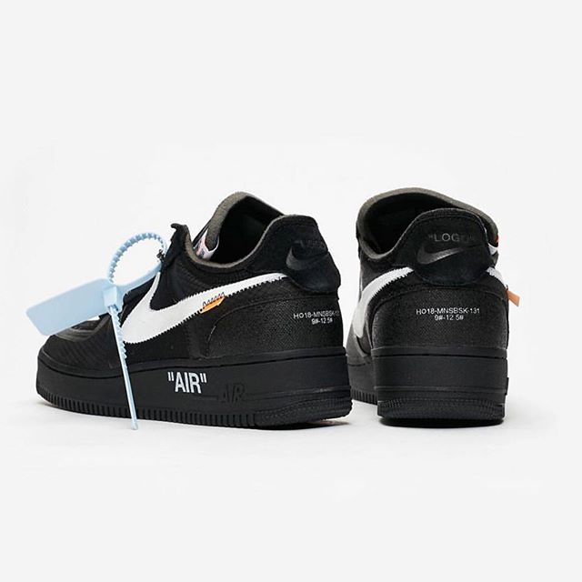 Off-White   c/o @Nike  Air Force One  in black. follow above flagship stores and retailers for individual release information.