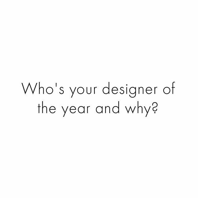 With the Fashion Awards celebrating the best of 2018 earlier this week, let s take a moment to look back at our favourite things from this year.  Leave your answer in the comments below