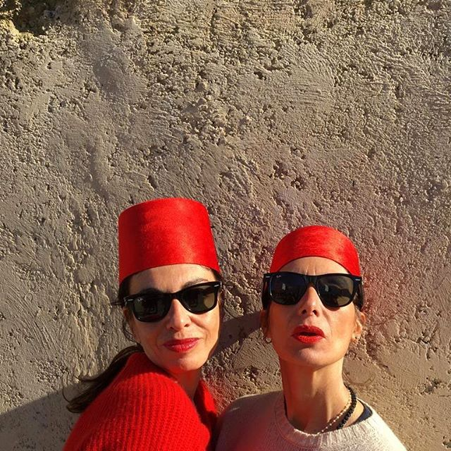 Totalement Marocaines. #tanger #roadtrip with my sista @colbacco catched by @arimichetti    Styling by @babaglauco    #levresrouges