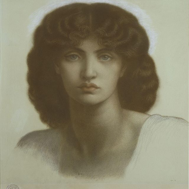 The face that inspired an artistic movement, Jane Morris embodied the Pre-Raphaelite's ideal of beauty. Here she is drawn by Dante Gabriel Rossetti who featured her in many of his most prominent works.