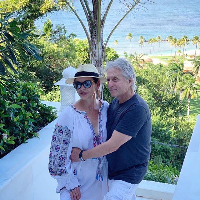 One of the coolest couples in the world: Catherine Zeta Jones and Michael Douglas, vacationing in style.     #folknouveau #vitakin #originalvitakin
