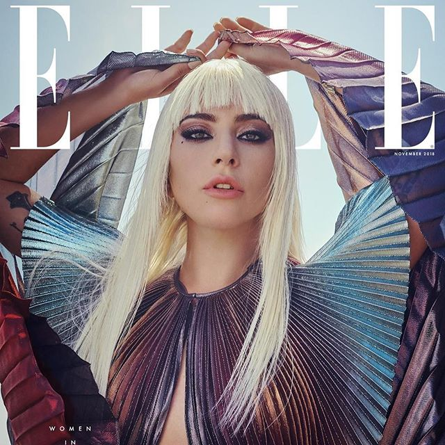 THE EDITORIALS: #LadyGaga on the cover of @elleusa s November issue, wearing a #GivenchySpring19 outfit designed by @ClareWaightKeller, photographed by @l_o_b_s_t_e_r_e_y_e and styled by @nicolaformichetti. #GivenchyFamily #GivenchyEditorials