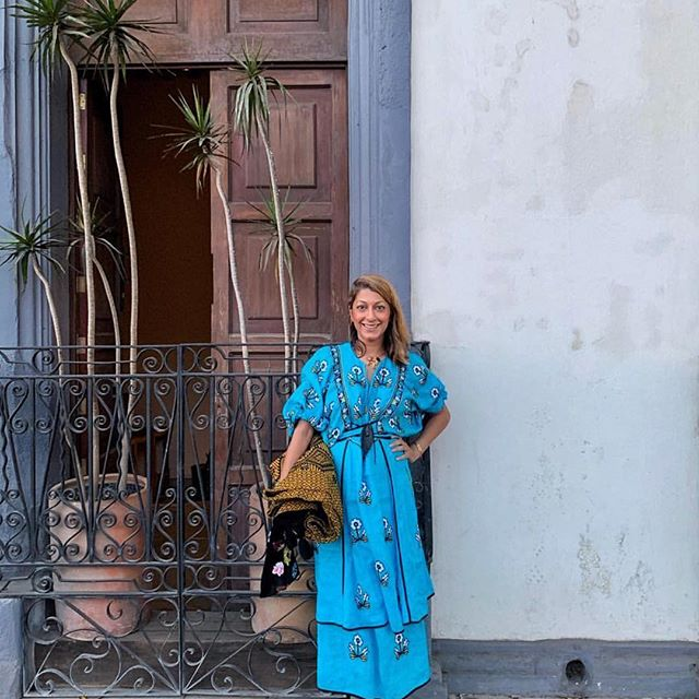 Meanwhile in Mexico   The very special @ramya wears the Pansy dress  #originalvitakin #folknouveau #vitakin