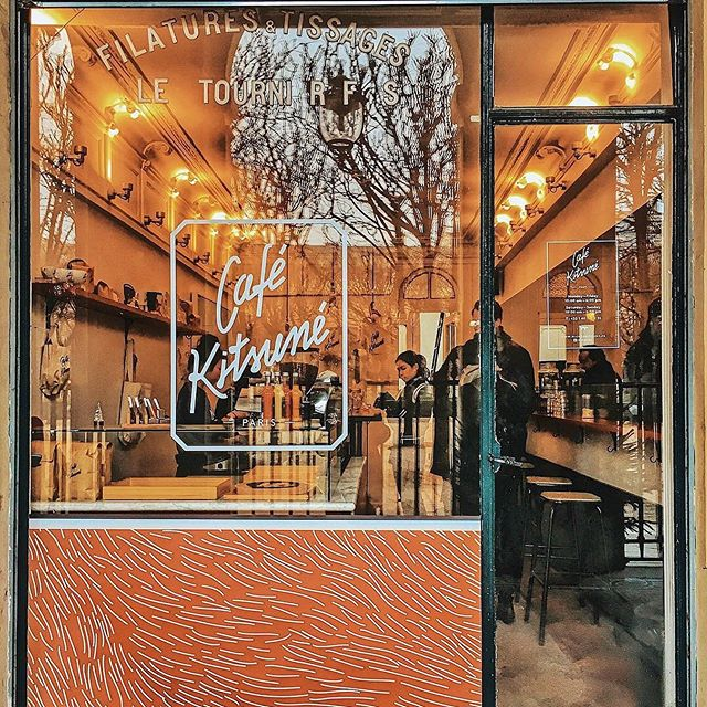 Bonjour from @CafeKitsune Palais Royal in Paris        Discover the new window at @CafeKitsune: an homage to the fox, also featured on the exclusive packaging of the savory collaboration between @CafeKitsune & @lechocolatdesfrançais    #CafeKitsunexChocolatdesFrancais