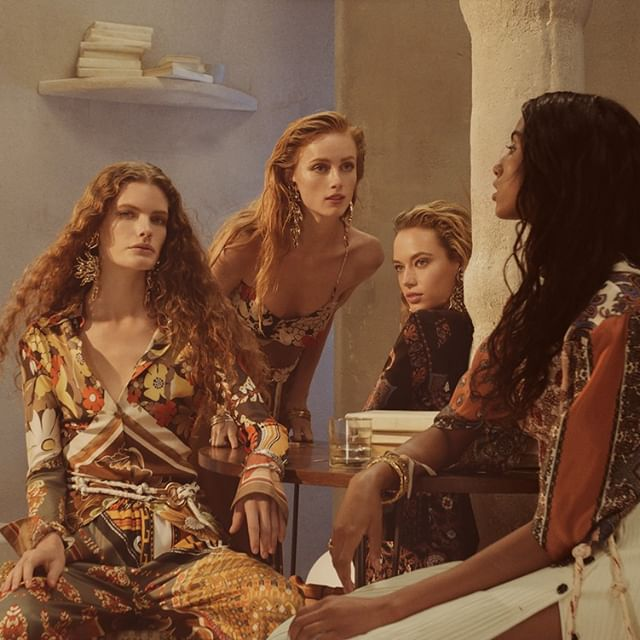 The feminine utopia of the #chloeSS19 campaign by #StevenMeisel, featuring @NRamsayLevi s runway collection  Stay tuned for the full campaign film  Starring #chloeGIRLS: @Carolina.Burgin, @HannahFergusonOfficial, @ImaanHammam, @RianneVanRompaey  Art direction @MMParisdotcom Styling @AllegriaTorassa Hair @GuidoPalau Makeup @PatMcGrathreal