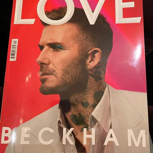 Congratulations #LOVE20.5 cover star @davidbeckham wearing @mrkimjones #MovingLove @thelovemagazine X Kisses