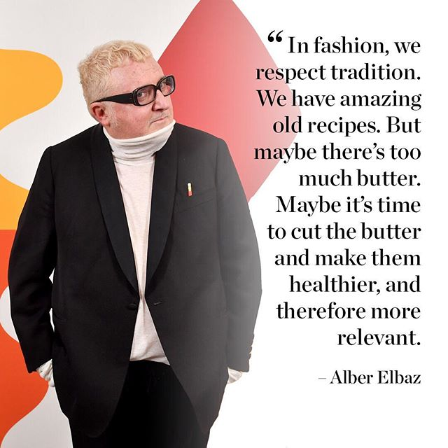 Fashion is always more of a family to me than an industry: a little bit dysfunctional but a great family,  says Alber Elbaz. So, how would the designer fix the fashion system? From millennial consumers, to the fashion industry s risk aversion, Elbaz addressed topics confronting today s designers at #BoFVOICES. Coupled with musings and observations from his own career and what he s learned since leaving Lanvin, Elbaz s talk provided succinct insights that both amused and provoked   and ended with a karaoke rendition of Aretha Franklin s hit song  Respect.  Listen to the inspiring talk now on the BoF podcast or watch the video on businessoffashion.com [Link in bio] #alberelbaz #podcast  : @gettyimages