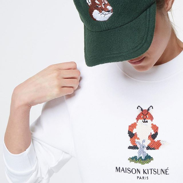 The one and only  Pixel Fox  has made its way back to our e-shop     An all-time favorite piece with a pixel-generated fox embroidered on the chest