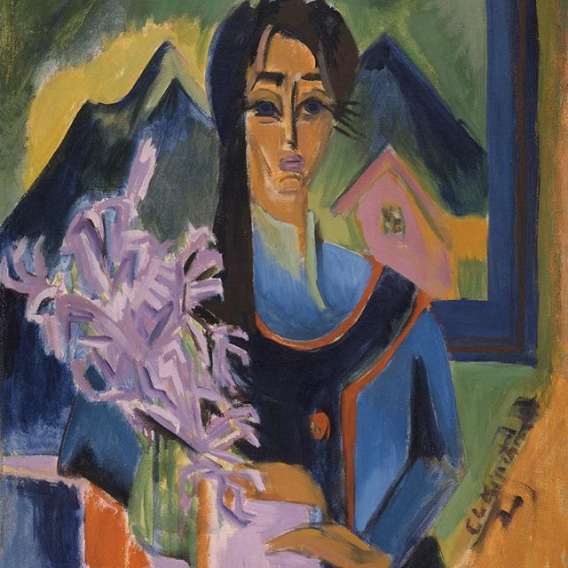 "How are you spending the first #SundayFunday of the new year? Visit ""Sunday in the Alps,"" Ernst Ludwig Kirchner, Germany, 1922 in the Ahmanson building, level 2."