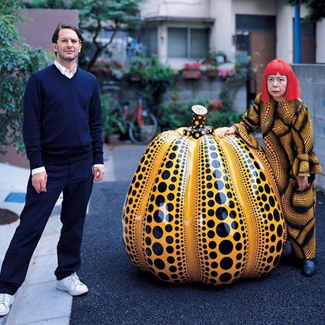 #TBT The incredible day (many years ago) that I spent with Yayoi Kusama  I am so grateful for the extraordinarily special times I get to share with such brilliant, creative talents- listening, talking, sharing experiences, learning. #Iamaluckyone