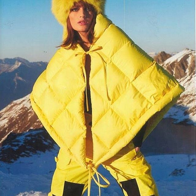 Stingray Scarf Blazing Yellow Polyester Fabric in @tatlermagazine by @sophiepera available online and at selected stores worldwide     #ienkiienki #staywarm