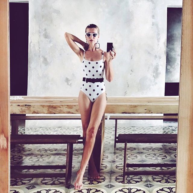 Dotted   . #mood #space #room #swimsuit #bikini http://liketk.it/2zlFS #liketkit @liketoknow.it #tiles #interior #mirror #reflections #polkadots #dotted #vintage #retro #design #fashion #