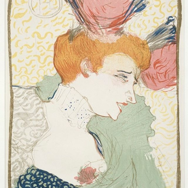 Often inspired by dancers and performers, Toulouse-Lautrec's work regularly captured the intimacies of Parisian nightlife. His portrait of flame-haired singer and dancer Marcelle Lender is an example of his distinctive style.  #ToulouseLautrec #Lautrec #Illustrations #Paris #MarcelleLender