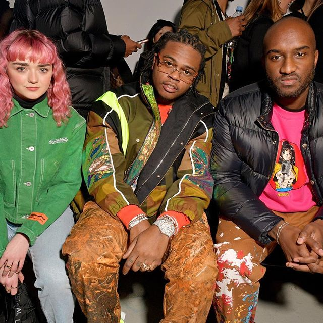 Maisie Williams, Gunna and Virgil Abloh sitting front row at Heron Preston s first ever show at #pfw.  : @zefashioninsider . . . . . #wwdmens  #maisiewilliams  #gunna  #virgilabloh  #heronpreston  #pfwm