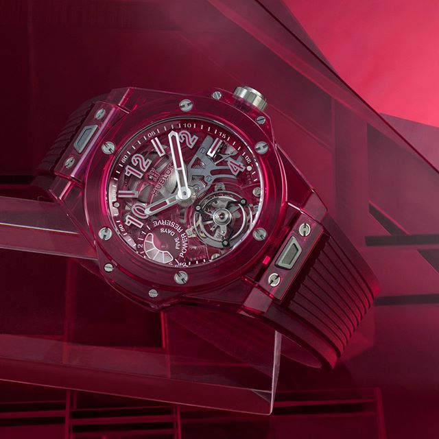 HUBLOT   GENEVA DAYS  Invisible visibility by @hublot. Discover the new Big Bang Tourbillon 5-day Power Reserve Red Sapphire, presented in Geneva this January. _ #Hublot #HublotGenevaDays #GenevaDays #HublotSaphire #BigBang #Tourbillon #LVMH