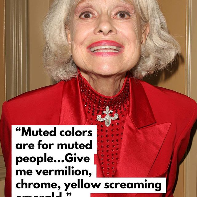 Carol Channing wasn t just a legendary performer   her love of fashion was equally epic. Here, an excerpt from an interview she gave WWD in 1974. . . . . . #wwdeye #carolchanning