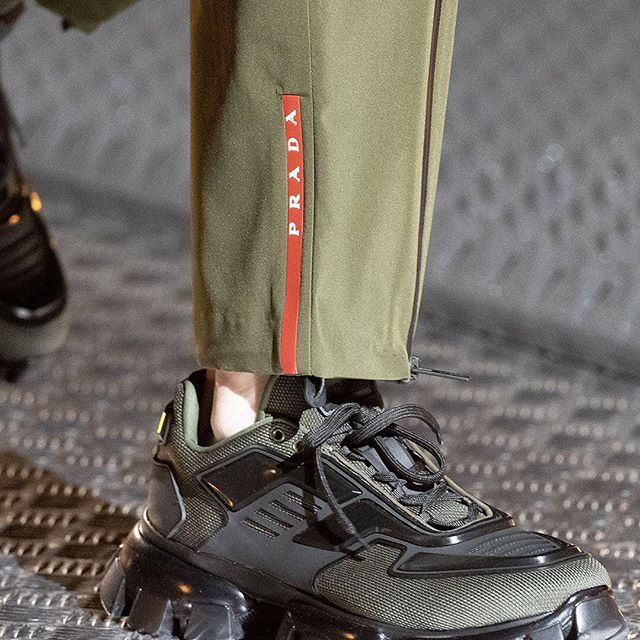 The #Cloudbust family has a new evolution: #PradaCloudbustThunder sneaker, debuted at the #PradaFW19 Men s and Women s show.  Discover more via link in bio.  #Prada   #MiucciaPrada  #PradaCloudbust
