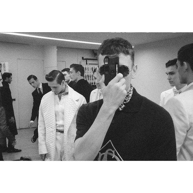 Sam Jonah's viewpoint of the backstage moments before the  #DGELEGANZA Men's Fashion Show. #DGMenFW20 #DolceGabbana