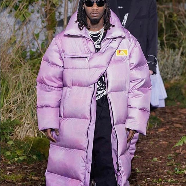 @offsetyrn in fw19 men s Off-White  runway show titled  Public Television