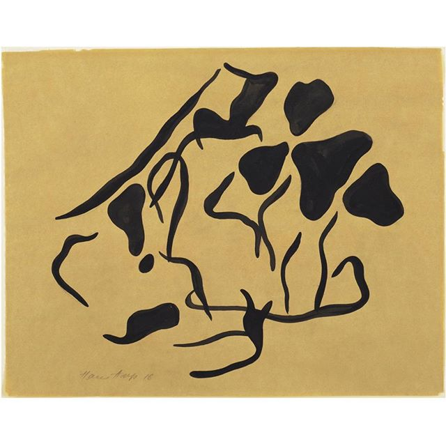 Jean Hans Arp;  Untitled (Automatic Drawing) , 1916