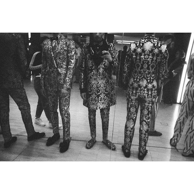 Zaki Gill's viewpoint of the backstage moments before the  #DGELEGANZA Men's Fashion Show. #DGMenFW20 #DolceGabbana