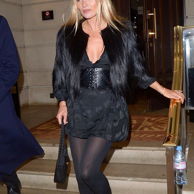 Kate Moss wearing Stella McCartney at her 45th birthday party in London. . . . . #wwdfashion #katemoss  #katemossstyle  #stellamccartney