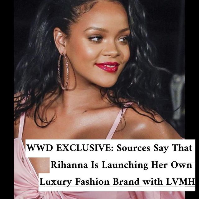 After dominating in the makeup and lingerie categories, not to mention her Fenty line with Puma, Rihanna is getting ready for her next act in fashion.  According to sources, the superstar has been in secret talks with LVMH Moët Hennessy Louis Vuitton to launch a luxury fashion house under her name. The eponymous collection is said to cover everything from ready-to-wear to leather goods and accessories and is expected to launch later this year in tandem with Rihanna s ninth studio album. . . . . . . . . . . #wwdnews #wwdfashion #rihanna #lvmh #fentybeauty