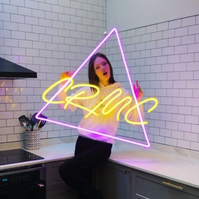OBSESSED with the new @cocorochamodelcamp neon sign by my friends at @electric_confetti. Doing a mini camp decor tour on my Instagram story right now...