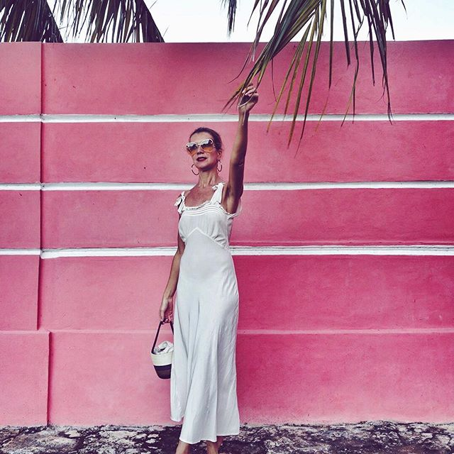 Mary Poppins in Mexico    . #goodmorning #pinkAF #vintage #20s #silk #mood http://liketk.it/2zknA #liketkit @liketoknow.it #nataliejoos Photo by @jamespenfold