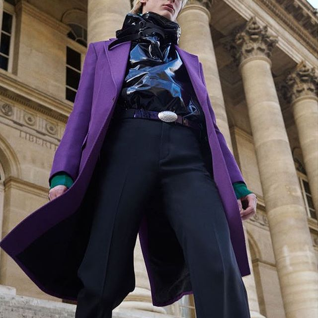 Colour-blocked suits and embellished pieces in embroidered leather marked Givenchy s return to Paris Fashion Week Men s. What do you think of the collection? Discover all the looks on businessoffashion.com/fashion-week [Link in bio]  : @givenchyofficial #givenchy #bofw #pfwm