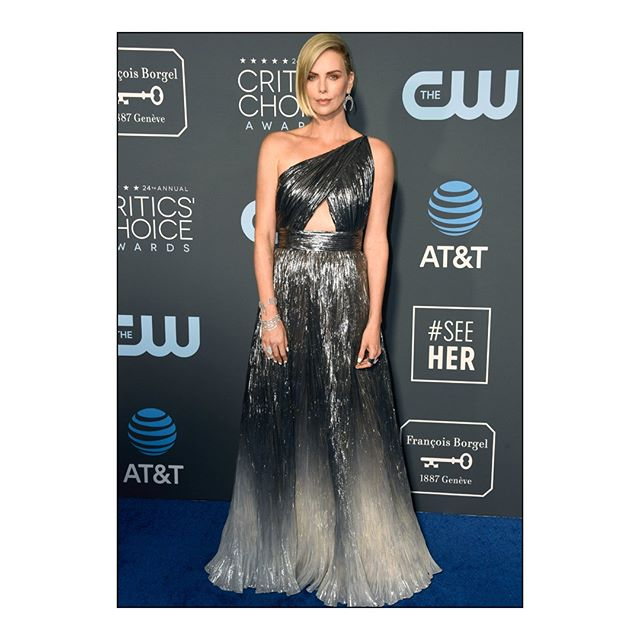CRITICS  CHOICE AWARDS: Best Actress in a Comedy nominee #CharlizeTheron wore a #Givenchy custom made outfit, designed by @ClareWaightKeller, to the 24th Critics  Choice Awards. #CriticsChoice #GivenchyFamily