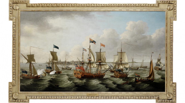 Джон Кливли. The flotilla of ships led by the Royal Charlotte, 1770