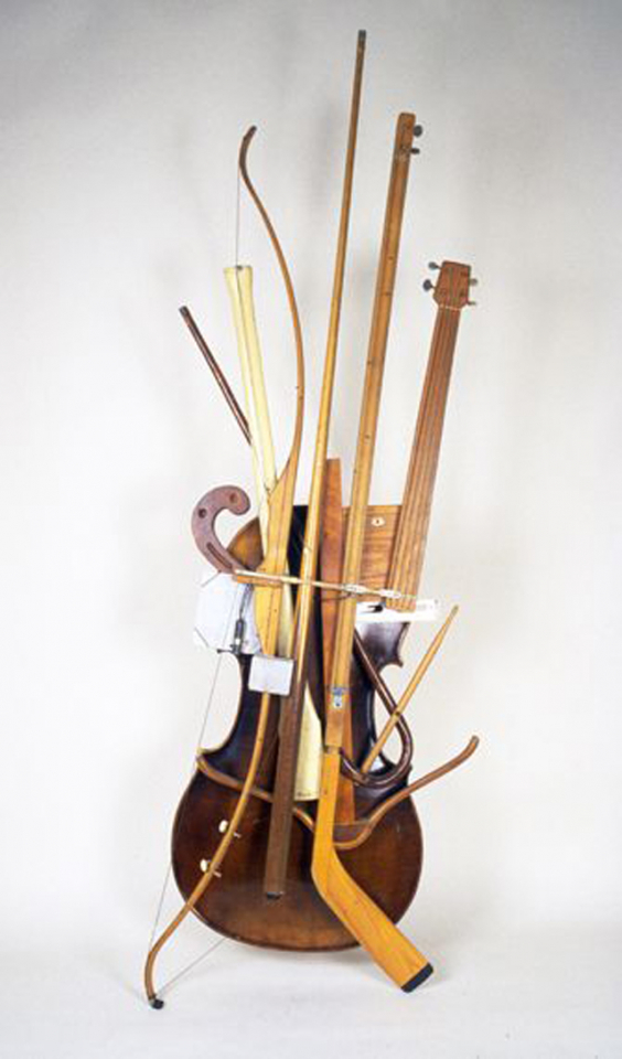 Кен Батлер. Pool Cue Archery Bow Cello