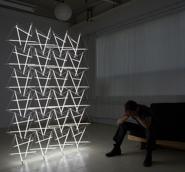 Tensegrity space frame lighting structure, Michal Maciej Bartosik