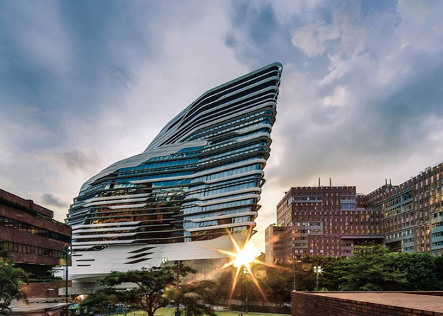 Jockey Club Innovation Tower. Zaha Hadid Architects