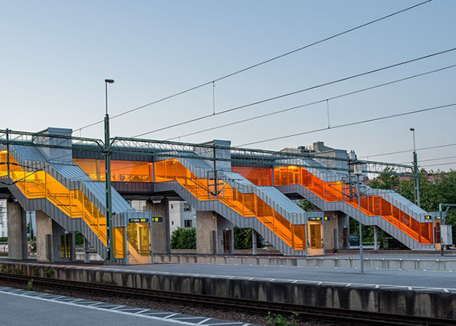 Skyttelbron, Shuttle Bridge in Lund. Sweco Architects