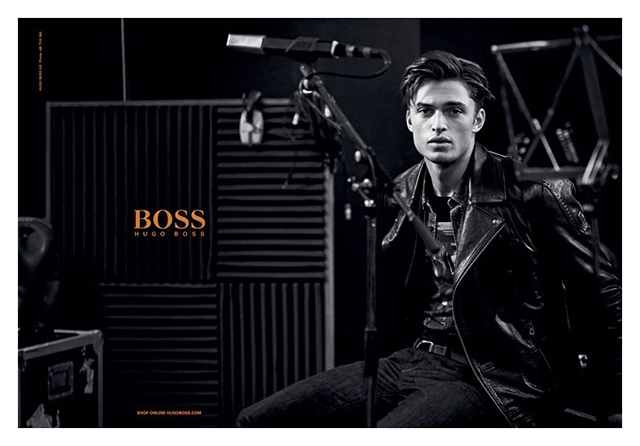 Андреа Диакону в съемке Питера Линдберга для Hugo Boss Orange