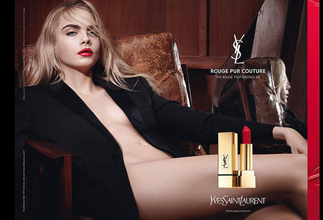 Кара Делевинь — лицо YSL Rouge Pur Couture